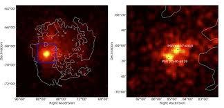 photo du premier pulsar gamma extragalactique observé