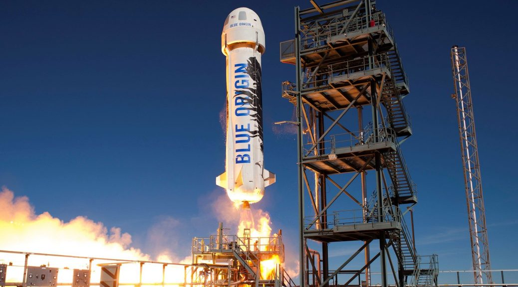 photo du lancement de Blue Origin