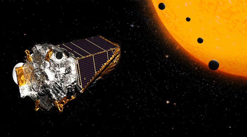 Illustration d'exoplanète Kepler.