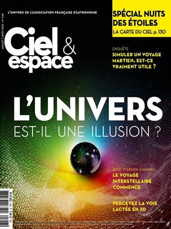 Photo de couverture du magazine Ciel et Espace, L'univers est-il une illusion?