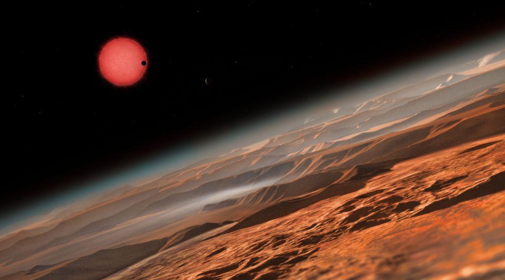 Vue d'un artiste de l'atmosphères d'exoplanètes.