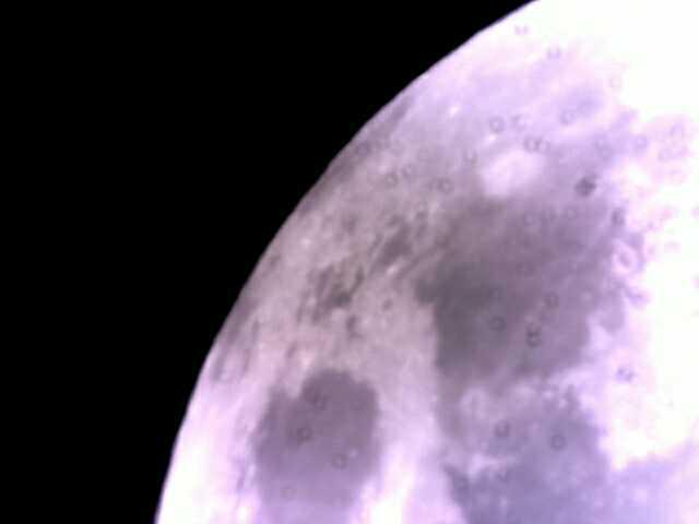 Photo de la lune prise par L'Astronomie de A à Z.